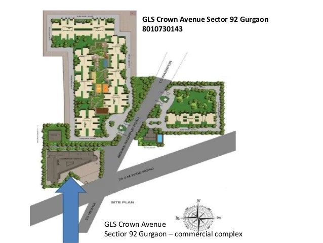 GLS Crown Avenue Sectior 92 Gurgaon – commercial complex GLS Crown Avenue Sector 92 Gurgaon 8010730143