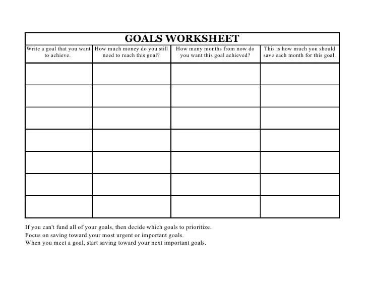 zig ziglar goals worksheet Termolak – Goal Worksheets