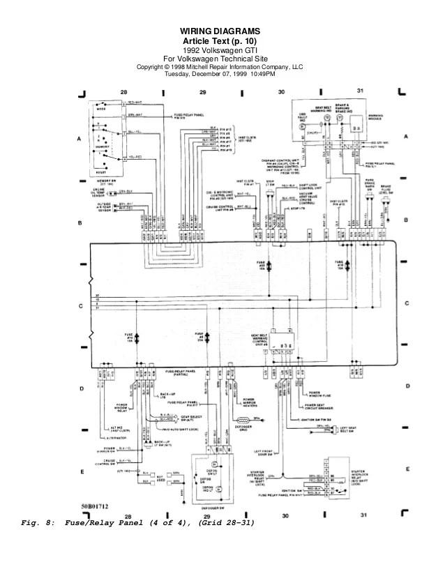 Golf 92 wiring diagrams (eng)