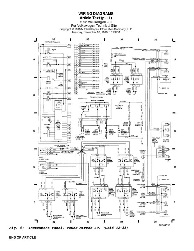 Golf 92 wiring diagrams (eng)