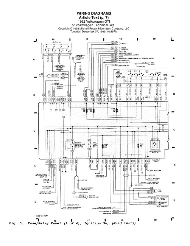 Vw Golf 7 Wiring Diagram Download  Somurich