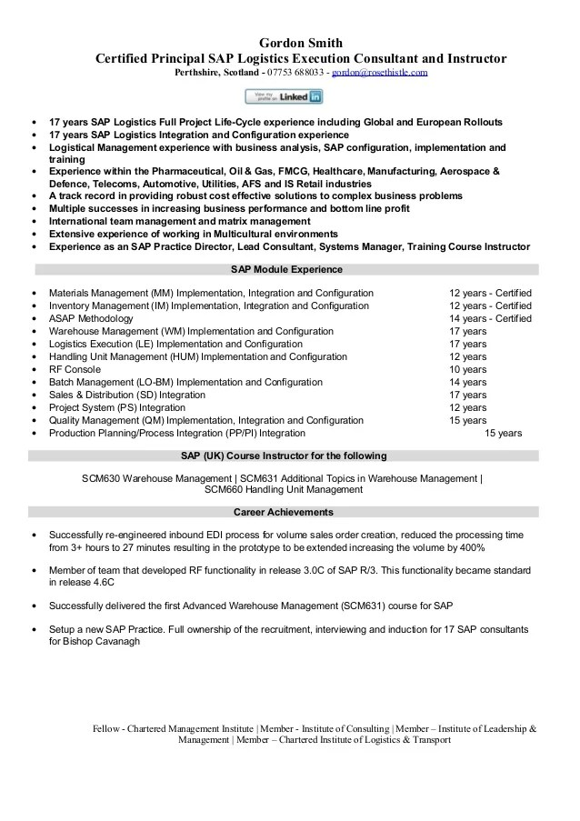 Sap Hr Functional Resume Sample. Sample Consulting Resume