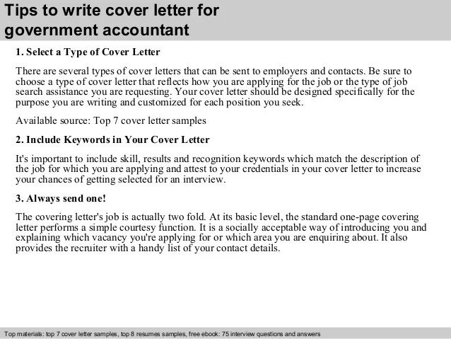 Cover Letter To Government