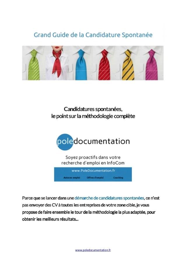 Grand Guide De La Candidature Spontanee