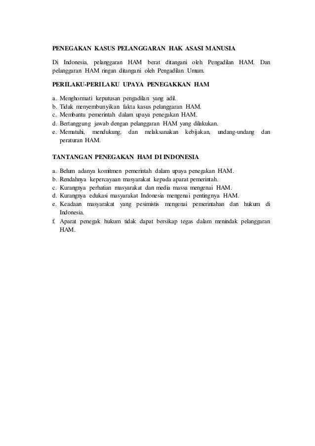 19 Makalah Ham Indonesia