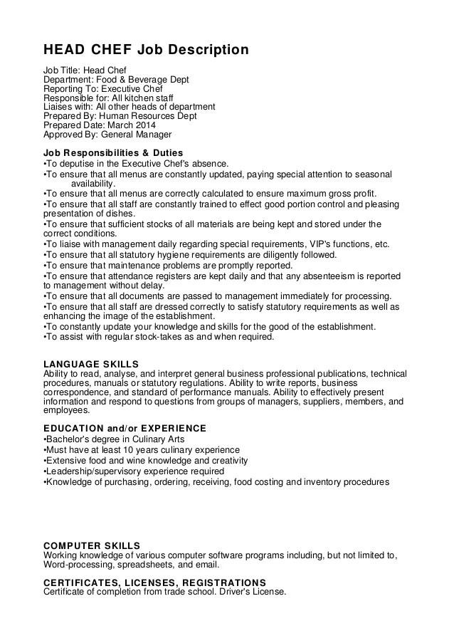 Line Cook Job Description For Resume. resume for cook line cook ...
