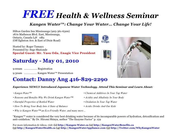FREE Health Amp Wellness Seminar Invitation For Saturday