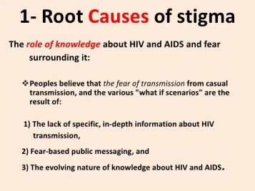 Image result for causes hiv stigmatization