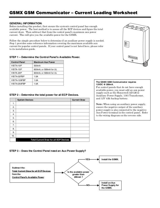 honeywell gsmxpoweroutputworksheet