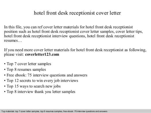 Receptionist job application letter example - Order Custom ...