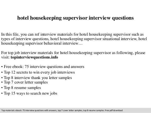 housekeeping supervisor gopitch co