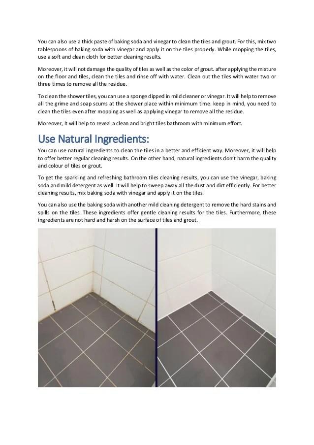 my bathroom tiles to shine again