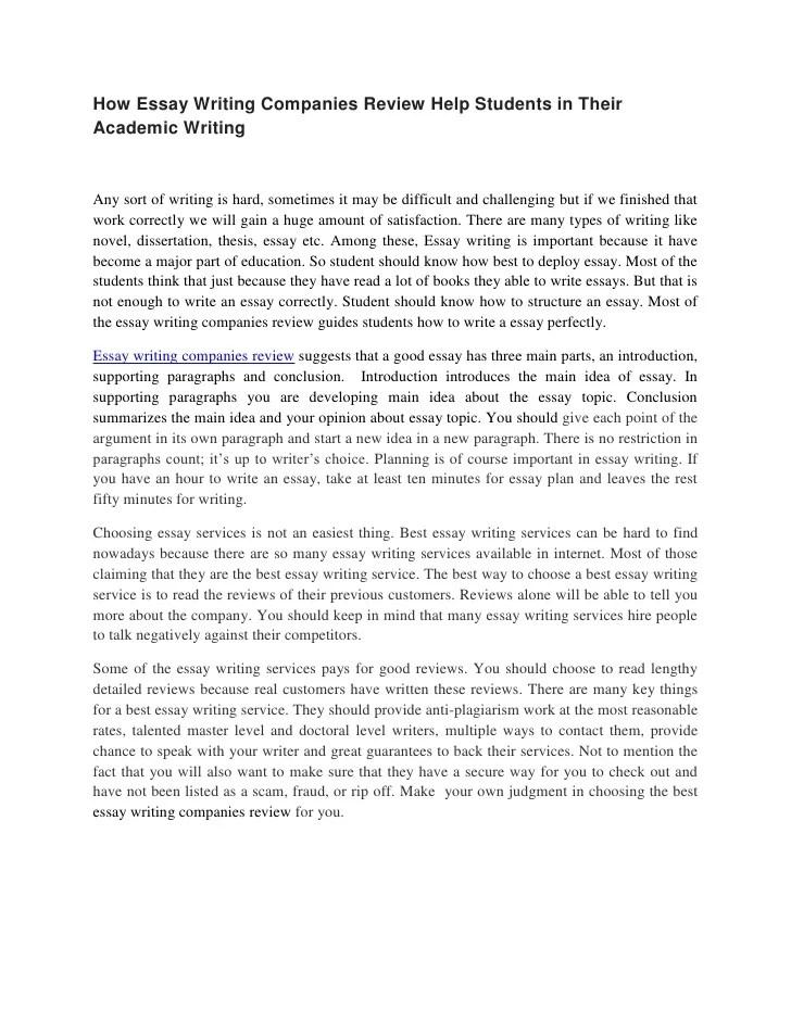Academic essays