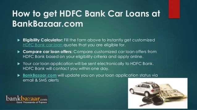How to apply hdfc bank car loan online