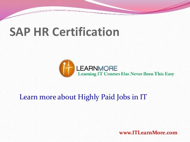 How To Get Sap Hr Certification