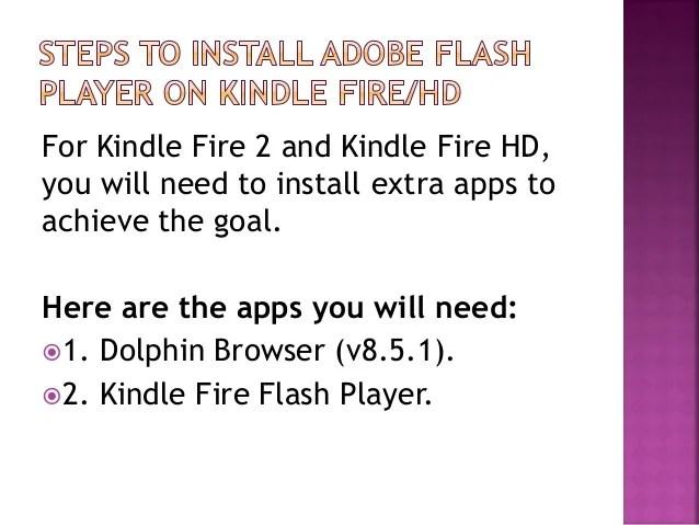 Adobe Flash Kindle Hd