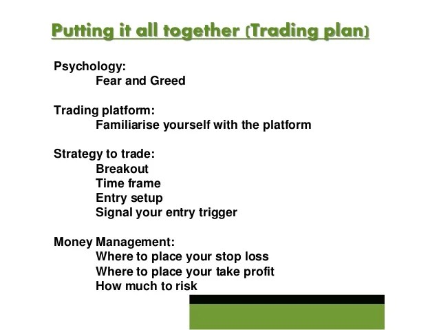 sample trading plan for forex