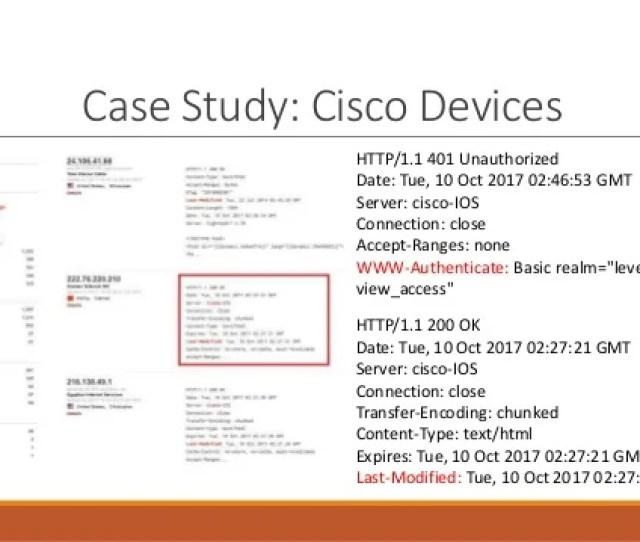Case Study Cisco Devices 29