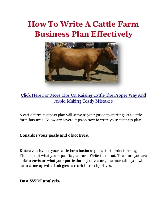 Pig farming business plan template