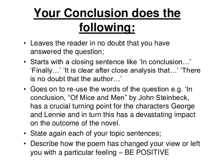 conclusion of an essay examples