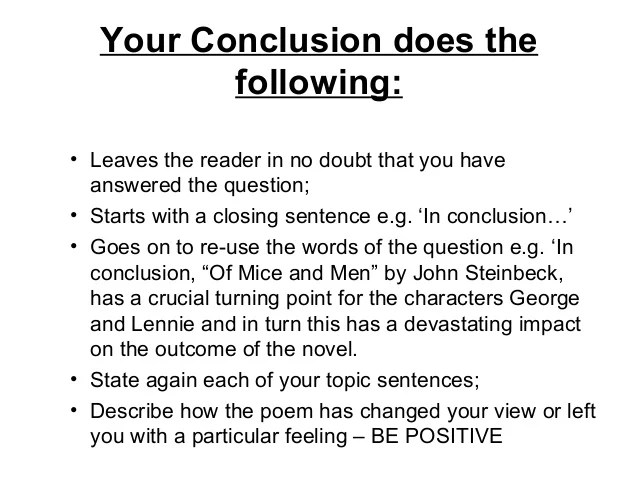 Conclusion Paragraph Examples