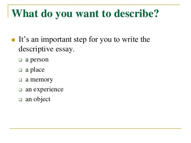 new york descriptive essay