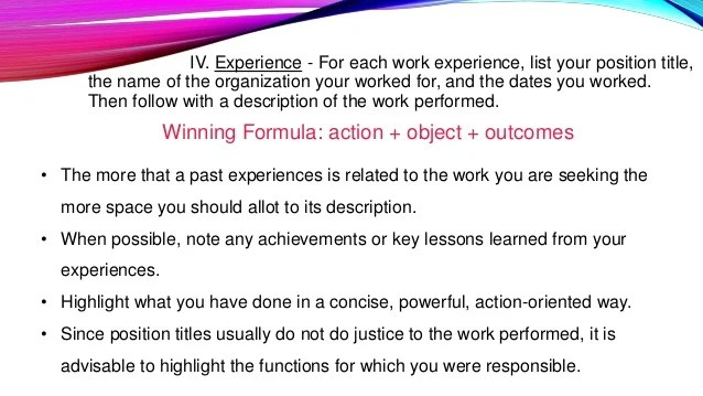 Resume Profile vs Resume Objective - The Balance