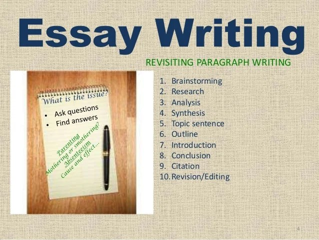 How to write an essay  Revisiting paragraph writing  Essay Writing REVISITING