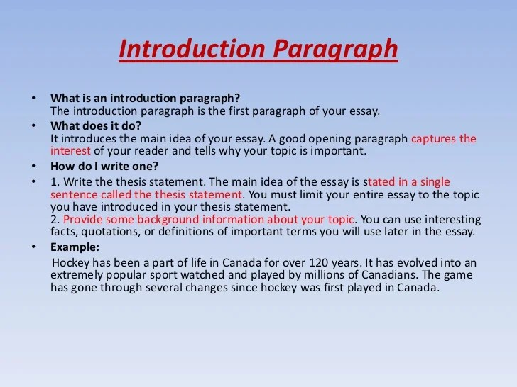 Introductory Paragraphs - CommNet