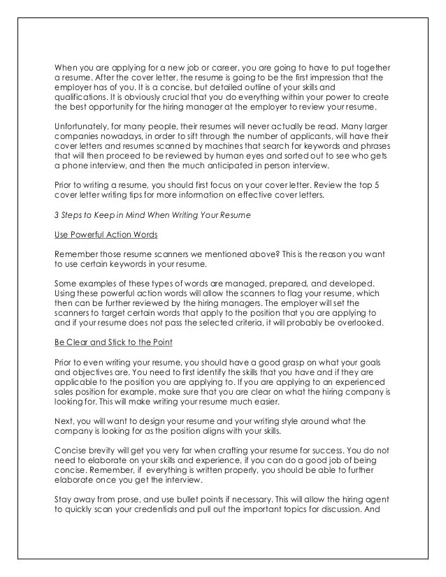 How To Write An Impressive Cover Letter For A Resume Astar Tutorial
