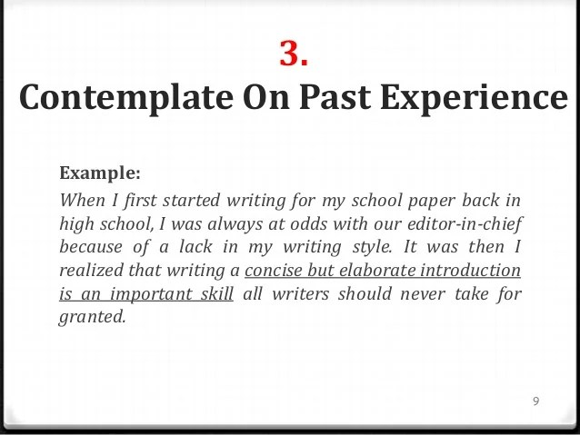 Good starting sentence for an essay