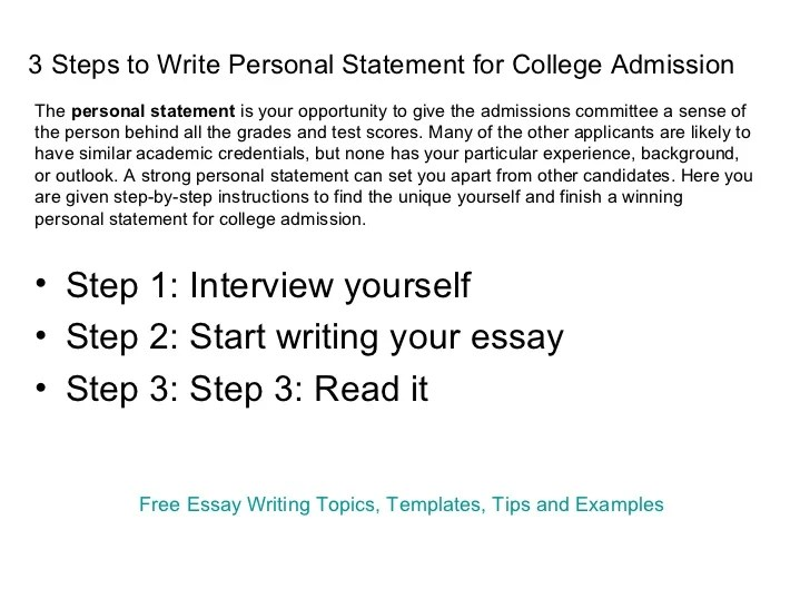 personal statement essay Good personal statement topics for college