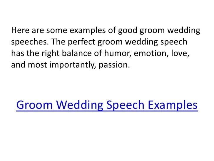Grooms Wedding Speech Template  groomsman speech template sample