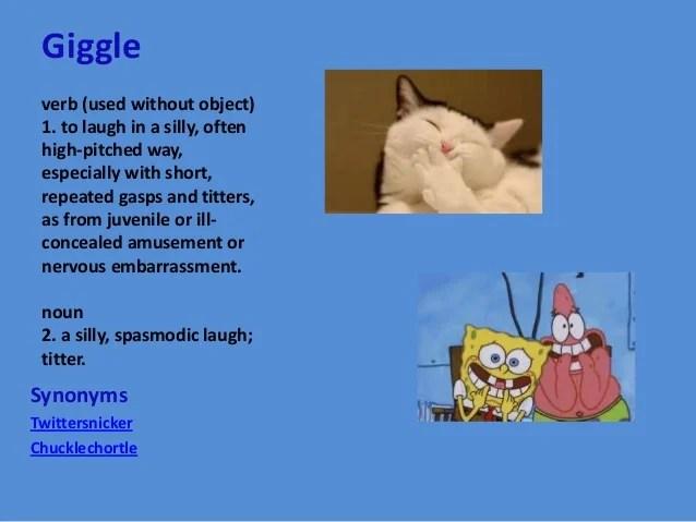Synonym And Antonym Laugh