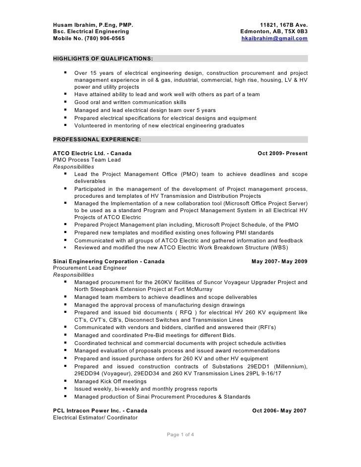 husam ibrahim detailed resume 05012010