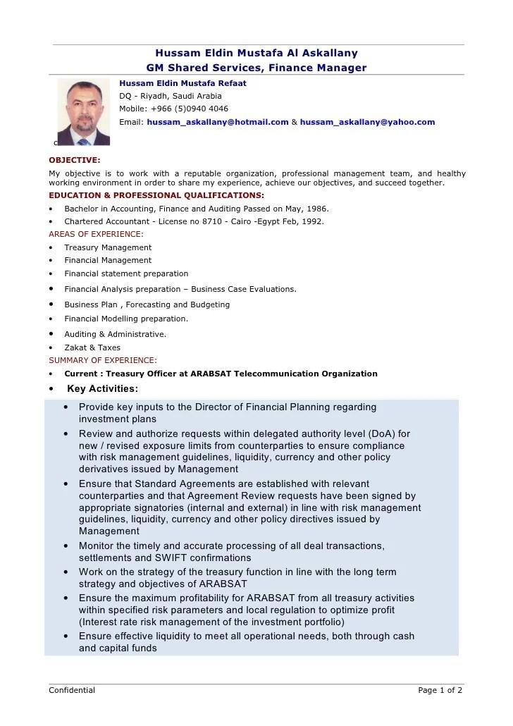 ca articleship resume