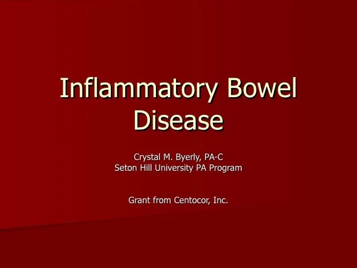 Irritable Bowel Disease Colitis And Crohn Ulcerative