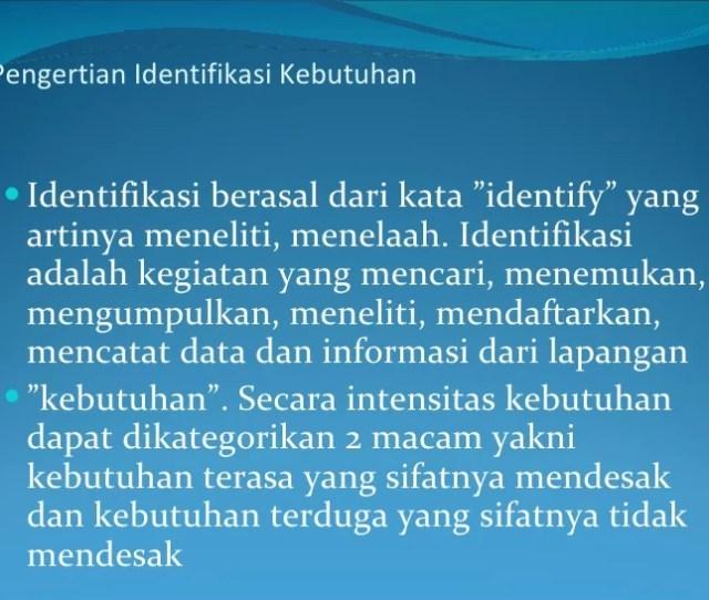 Pengertian Identifikasi
