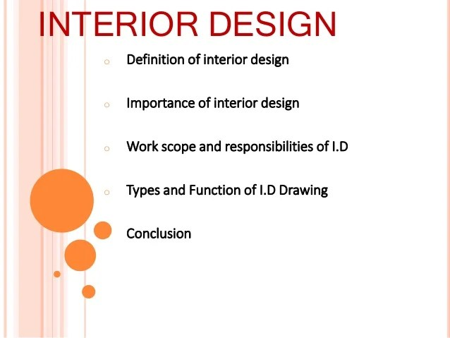 Interior Decoration Meaning
