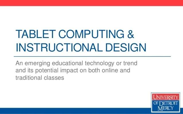 tablet computing designan emerging educational