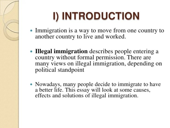 illegal immigration essay immigration essays