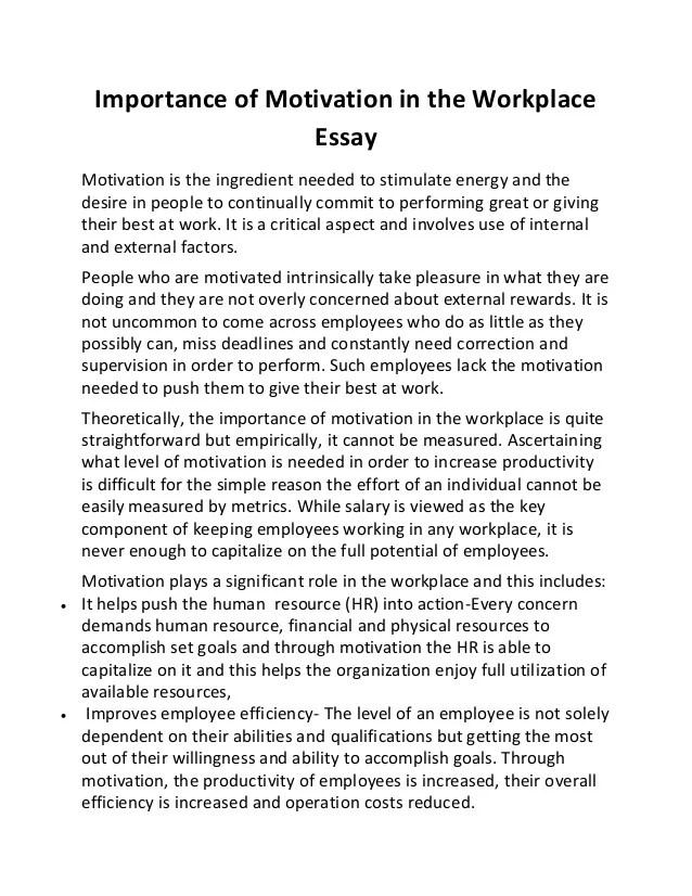 importance of motivation essay sample essay for you  importance of motivation essay sample image 3
