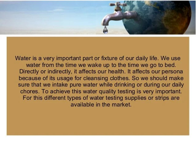 Importance Of Water Quality Testing