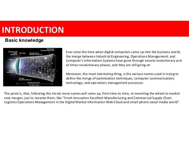 Logistics Operation Planning, Chron com