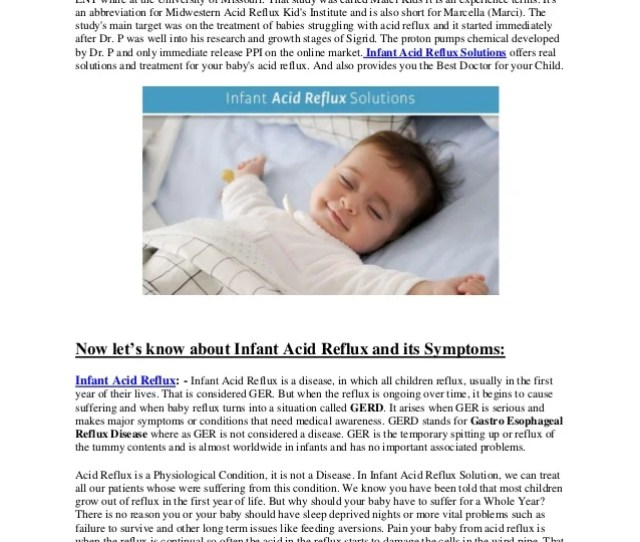 Do You Know About Infant Acid Reflux Infant Acid Reflux Solutions Llc Is A Company Which Infant Gerd Symptoms