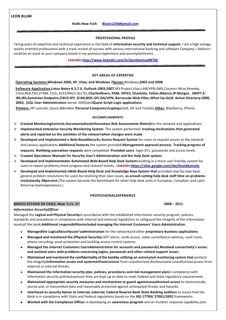 Doc.#444572: Security Resume Examples and Samples – Security ...