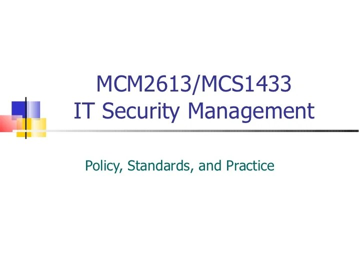 It Security Standards