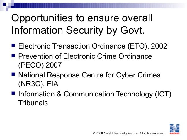 Information Security Opportunities