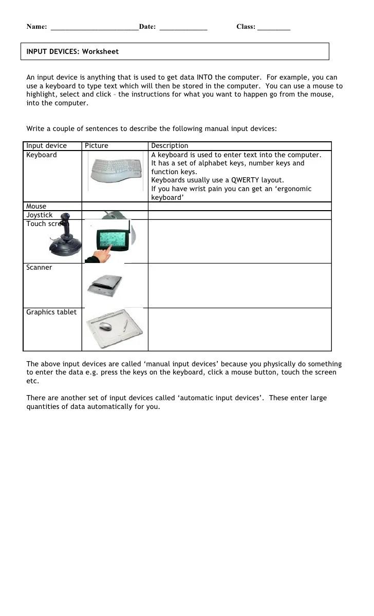Put Devices W Ksheet 5