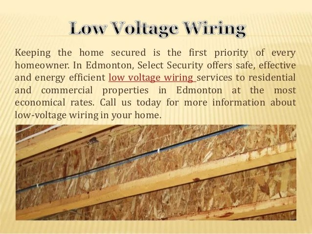 Installing Low Voltage Wiring Services